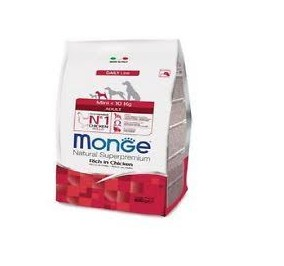 Monge mini adult pollo e riso gr 800