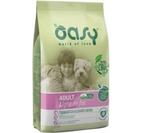 Oasy dry dog adult light in fat kg 3