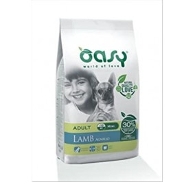 Oasy dry dog mini agnello kg 2,5