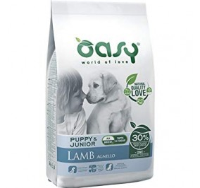 Oasy dry dog puppy e junior all breed agnello kg 2,5