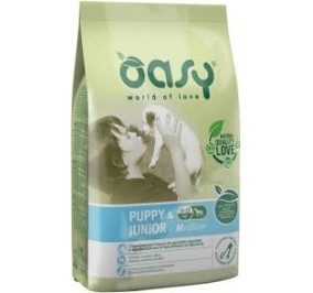 Oasy dry dog puppy e junior medium pollo kg 3