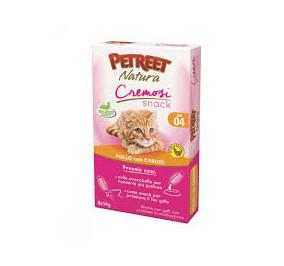 Petreet natura cremosi snack pollo con carote confezione da 6 pezzi per 14 gr