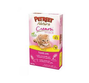 Petreet natura cremosi snack pollo confezione da 6 pezzi per 14 gr