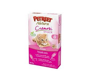 Petreet natura cremosi snack tonno confezione da 6 pezzi per 14 gr