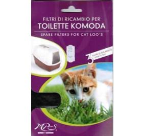 Ricambio filtro per toilette 3 pz
