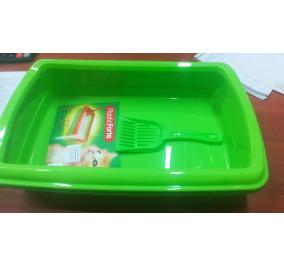 Lettiera con paletta plastica mis 47*32*11 verde