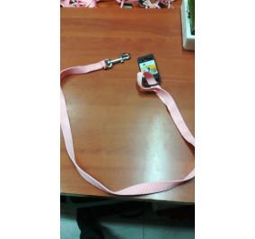 Guinzaglio nylon 10 mm 100 cm rosa