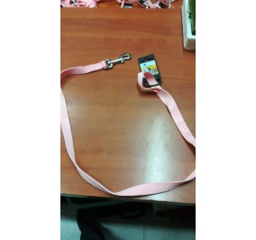 Guinzaglio nylon 15 mm 100 cm rosa