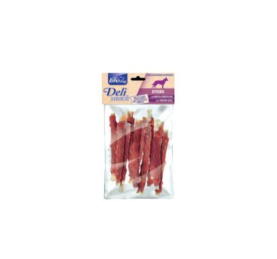Life dog deli snack stick con anatra arrotolata gr 100