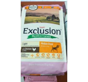 Exclusion medium light pollo kg 3