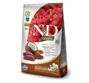 N/D skin e coat adult all breeds cervo, quinoa, cocco e curcuma kg 2,5