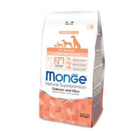 Monge all breed puppy and junior salmone e riso kg 2,5