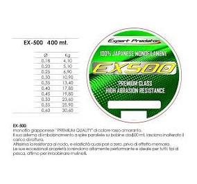 Expert predator ex 500 mt 500 diametro 0,60