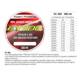 Expert predator ex 300 mt 300 diametro 0,20
