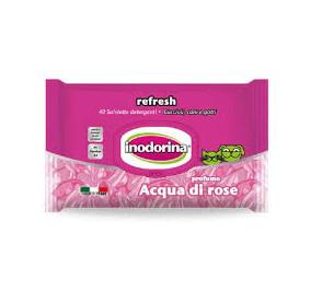 Inodorina salviette acqua di rose 40 pz