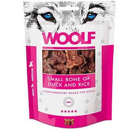 Woolf osso piccolo di anatra e riso gr 100