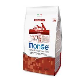 Monge all breed adult agnello, riso e patate kg 12