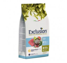 Exclusion medium puppy tonno kg 3