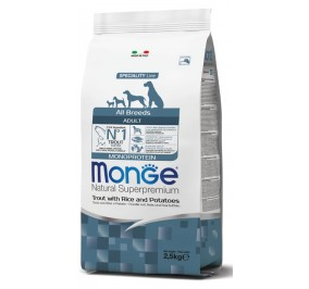 Monge adult all breed trota, riso e patate kg 12