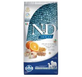 N/D ocean merluzzo, farro, avena e arancia adult medium e maxi kg 2,5