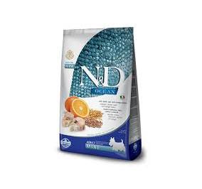 N/D ocean merluzzo, farro, avena e arancia adult mini kg 2,5