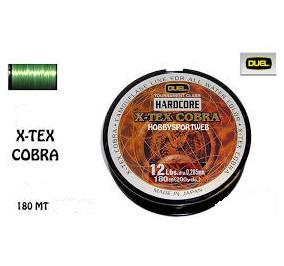 Duel hardcore x tex cobra mt 180 diametro 0,205