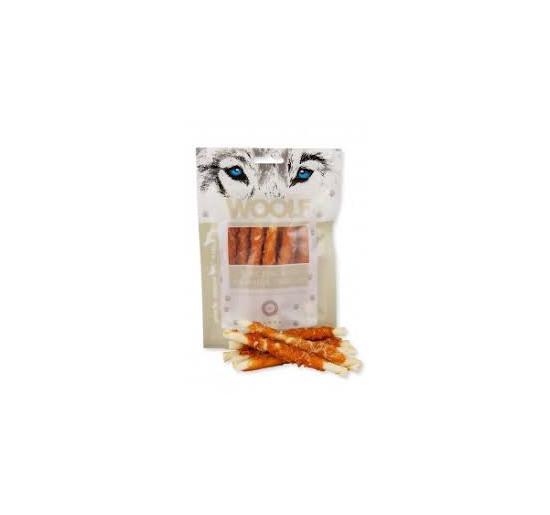 Woolf snack per cane rotolo da masticare di pollo gr 100