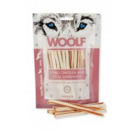 Woolf snack per cani sandwich di pollo e merluzzo gr 100