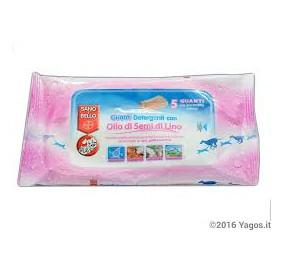 Sano e bello guanti detergenti con olio di semi di lino conf. da 5 guanti