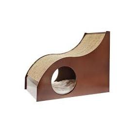 Ferribiella Tiragraffi in legno con scivolo con tana misure 55*30*45 cm